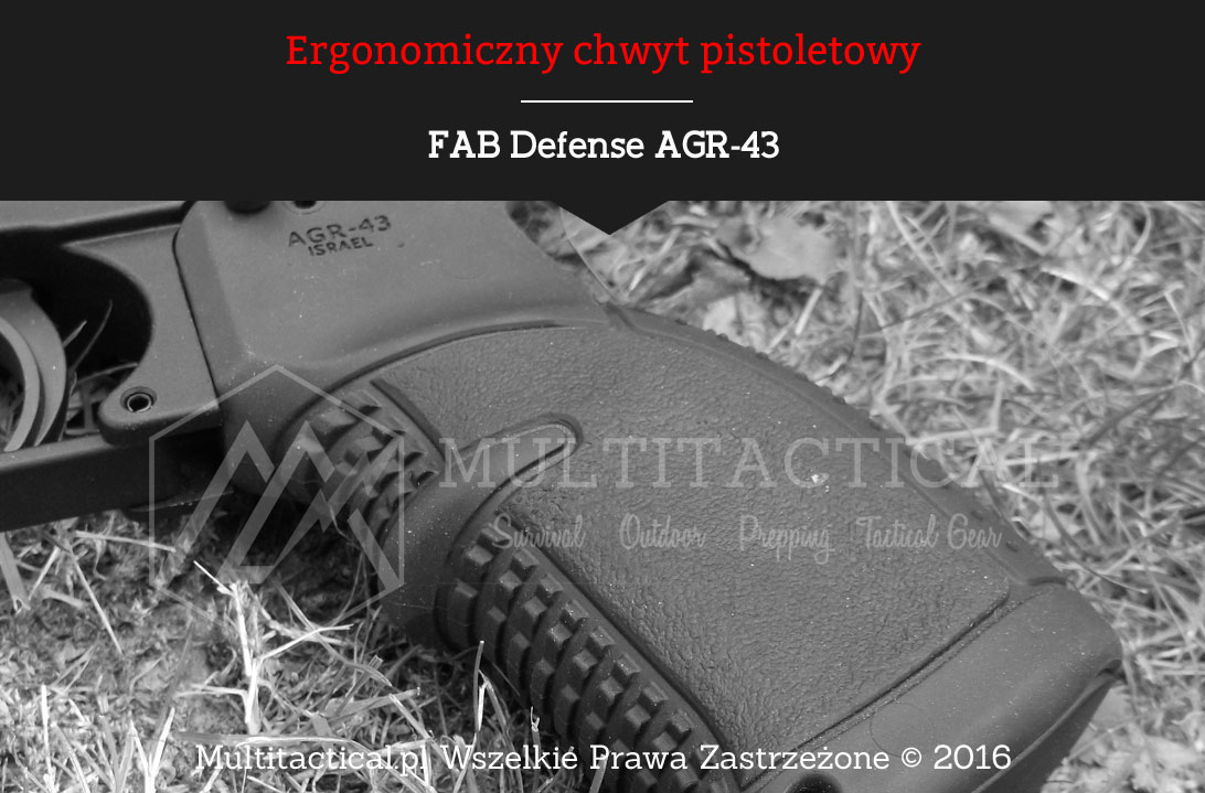 Multitactical.pl Ergonomiczny chwyt pistoletowy FAB Defense AGR-43
