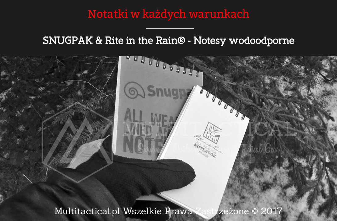 Multitactical.pl - SNUGPAK & Rite in the Rain® - Notesy wodoodporne