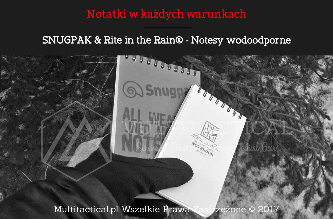 Multitactical.pl - SNUGPAK & Rite in the Rain® - Notesy wodoodporne