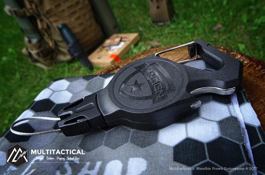 Multitactical.pl - T-REIGN® Small Integrated Carabiner - Recenzja retraktora