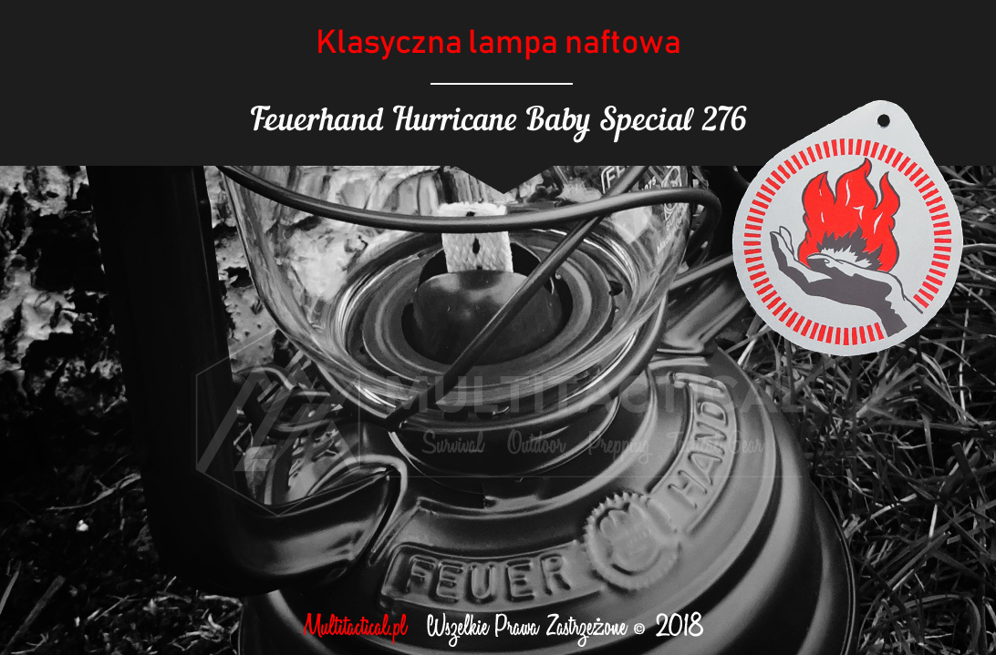 Multitactical.pl - Survival Outdoor Prepping Tactical Gear - Feuerhand Hurricane Lantern Baby Special 276 - Lampa naftowa