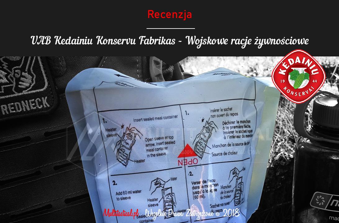 Multitactical.pl - Survival Outdoor Prepping Tactical Gear - UAB KEDAINIU KONSERVU FABRIKAS MRE - Wojskowe racje żywnościowe - Recenzja
