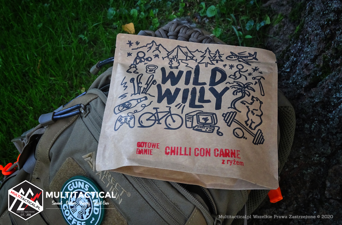 Multitactical.pl - Survival Outdoor Prepping Tactical Gear - Preppers - Recenzja - Wild Willy Beef Jerky - Gotowe danie Chilli Con Carne z ryżem - Co ty wiesz o liofilizatach?